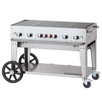 Crown Verity CV-MCB-48-SI-50/100 Liquid Propane 48 inch Mobile Outdoor Grill with Single Gas Connection and 50-100 lb. Tank Capacity