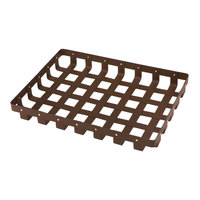 Delfin WVB-1712-PC65 Weave 17 inch x 12 inch Rectangle Rust Colored Basket