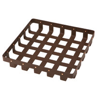 Delfin WVB-12-PC65 Weave 12 inch x 12 inch Square Rust Colored Basket