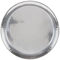American Metalcraft HMRST2201 22 inch Round Hammered Stainless Steel Serving Tray
