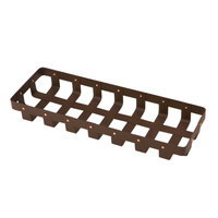 Delfin WVB-176-PC65 Weave 17 inch x 6 inch Rectangle Rust Colored Basket