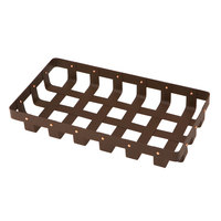 Delfin WVB-158-PC65 Weave 15 inch x 8 inch Rectangle Rust Colored Basket