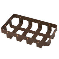 Delfin WVB-106-PC65 Weave 10 inch x 6 inch Rectangle Rust Colored Basket