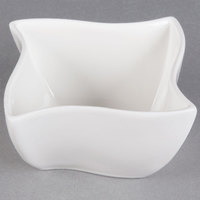 American Metalcraft SQVY3 Squavy 5 oz. White Wave Porcelain Condiment Cup