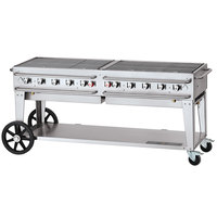 Crown Verity CV-RCB-72-SI50/100 72 inch Pro Series Outdoor Rental Grill with Single Gas Connection and 50-100 lb. Tank Capacity