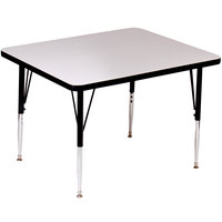 Correll A4242-SQ-15 42 inch Square Gray Granite Finish 19 - 29 inch Adjustable Height High Pressure Top Activity Table