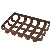 Delfin WVB-128-PC65 Weave 12 inch x 8 inch Rectangle Rust Colored Basket