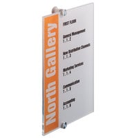 Durable 482519 8 1/4 inch x 11 3/4 inch Transparent Acrylic Standoff Sign with Inserts