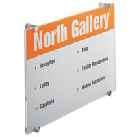 Durable 482619 11 3/4 inch x 16 5/8 inch Transparent Acrylic Standoff Sign with Inserts
