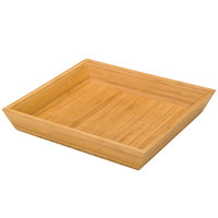 Delfin BK-12-BA1 12 inch x 12 inch Square Bamboo Basket - 6/Pack