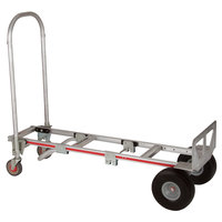 Magliner GMK81UAC Gemini Sr. 2-in-1 500 lb. Convertible Hand Truck with 10 inch Microcellular Foam Wheels and U-Loop Handle