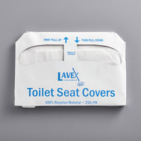 Lavex Janitorial Half Fold Paper Toilet Seat Cover - 250/Pack