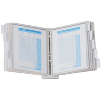 Durable 554110 SHERPA Gray Borders Letter Sized 10 Panel Wall-Mount Reference System