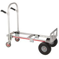 Magliner GMK16UAC Gemini Jr. 2-in-1 500 lb. Convertible Hand Truck with 10 inch Microcellular Foam Wheels and Dual Handles