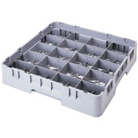 Cambro 20C414151 Camrack 4 1/4 inch High Customizable Soft Gray 20 Compartment Full Size Cup Rack