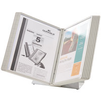 Durable 535810 VARIO Gray Borders Antimicrobial Letter Sized 10 Panel Desktop Reference System
