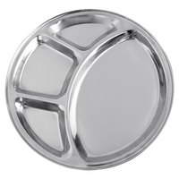 12 1/2 inch Stainless Steel 4 Compartment Plate / Thali