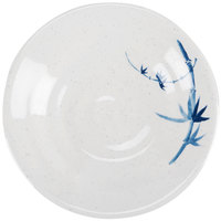 Thunder Group 1350BB Blue Bamboo 5 1/8 inch Round Melamine Soup Plate - 12/Pack