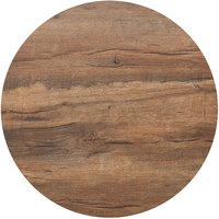 BFM Seating KP36R Relic Knotty Pine 36 inch Round Melamine Table Top with Matching Edge