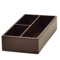 Melrose Brown Collection Faux Leather Condiment Caddy