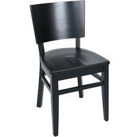 BFM Seating ZWC304BL-BL Aston Black Beechwood Chair