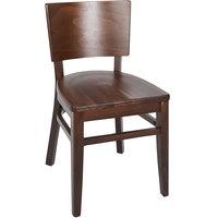 BFM Seating ZWC304DW-DW Aston Dark Walnut Beechwood Chair