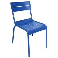BFM Seating PH812CBY Beachcomber Berry Stackable Aluminum Outdoor / Indoor Side Chair