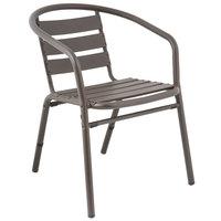 BFM Seating PH0021BZ Capri Bronze Aluminum Outdoor / Indoor Arm Chair