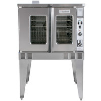 Garland MCO-GS-10S Liquid Propane Single Deck Standard Depth Full Size Convection Oven with Analog Controls - 60,000 BTU