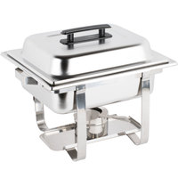 Choice Economy 4 Qt. Half Size Stainless Steel Chafer