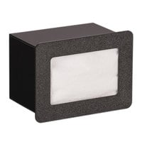 Vollrath FMN-1 In-Counter Black Thermoplastic Flush Mount Folded Napkin Dispenser - Cut-Out Dimensions - Cut-Out Dimensions 7 9/16 inch x 5 5/16 inch