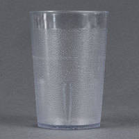 9 oz. Clear Pebbled Plastic Tumbler - 12/Pack
