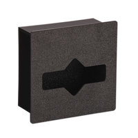 Vollrath FMT-1 In-Counter Black Thermoplastic Flush Mount Waxed Tissue Holder - Cut-Out Dimensions 7 1/16 inch x 7 5/16 inch