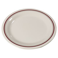 Carlisle 43009903 Mosaic Durus 6 1/2 inch Morocco on Bone Narrow Rim Melamine Pie Plate - 48/Case
