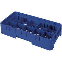 Cambro 10HS800186 Navy Blue Camrack 10 Compartment 8 1/2 inch Half Size Glass Rack