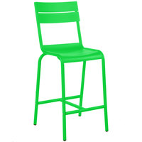 BFM Seating PH812BLM Beachcomber Lime Aluminum Outdoor / Indoor Bar Height Chair