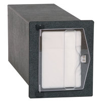 Vollrath FMHVN-1 In-Counter Black Thermoplastic Flush Mount Folded Napkin Dispenser - Cut-Out Dimensions 6 3/16 inch x 7 5/8 inch