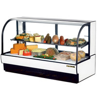 True TCGR-77-CD 77 inch White Curved Glass Refrigerated Deli Case - 43 Cu. Ft.