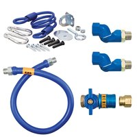 48 inch Dormont 16100KITCF2S Safety Quik Gas Appliance Connector Kit with SwivelMax Deluxe - 1 inch Diameter
