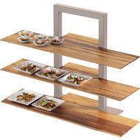 Cal-Mil 1449-68 Crushed Bamboo 11 1/2 inch x 32 inch Shelf for 3 Tier Frame Riser