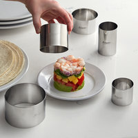 Ateco 5-Piece Stainless Steel Round Ring Mold Set