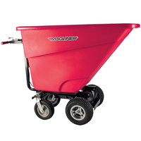 Magliner MHCSAB 0.5 Cubic Yard Motorized Hopper Cart with 13 inch Pneumatic Wheels and Dual Handle Bars (400 lb.)