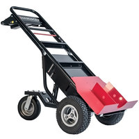 Magliner MHT75AC 1000 lb. Motorized Hand Truck with 13 inch Pneumatic Wheels and Tent Pole Pusher - 36V, 800W