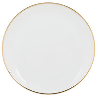 10 Strawberry Street CPGL0004 Coupe Gold Line 7 5/8 inch Gold Porcelain Salad Plate - 24/Case