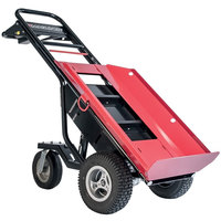 Magliner MHT75AB 1000 lb. Motorized Hand Truck with 13 inch Pneumatic Wheels and Plate for Cylinders / Inflatables - 36V, 800W