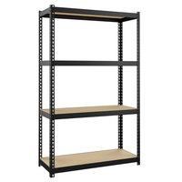 Hirsh Industries 22540 48 inch x 30 inch x 12 inch Four-Shelf Boltless Shelving Unit