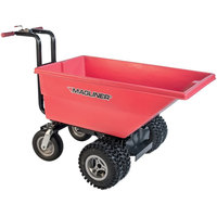 Magliner MHCSDA 0.22 Cubic Yard Motorized Hopper Cart with Dual 13 inch Aggressive Tread Pneumatic Wheels and Dual Handle Bars (250 lb.)