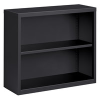 Hirsh 22454 Charcoal 2-Shelf Welded Steel Bookcase - 34 1/2 inch x 13 inch x 30 inch