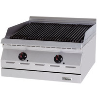 Garland GD-24RBFF Designer Series Liquid Propane 24 inch Radiant Charbroiler with Flame Failure Protection - 60,000 BTU