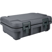 Cambro UPC140191 Granite Gray Camcarrier Ultra Pan Carrier - Top Load for 12 inch x 20 inch Food Pan